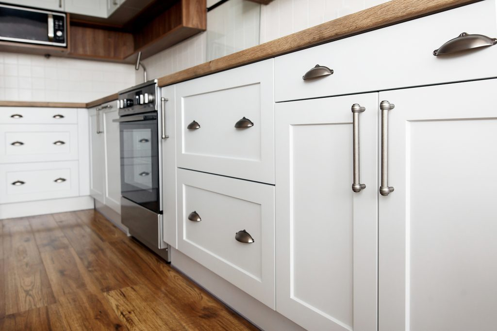 White Fitted Cabinets