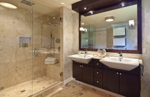 bathroom remodel with refaced cabinets