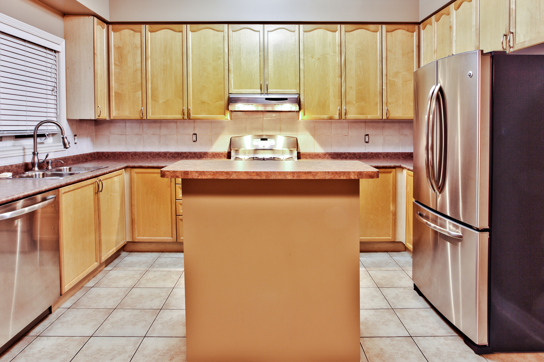 Kitchen that is dated and could be refaced in pittsburgh