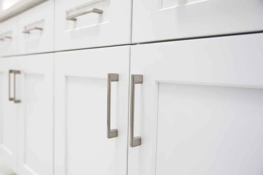 white kitchen cabinet doors in a Pittsburgh home